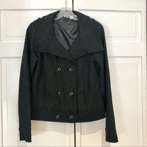 Roxy Short Black Pea Coat